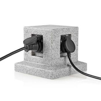 Stekkerdoos | 4x Stopcontact | 2,00 m Grijs | 4x Schuko
