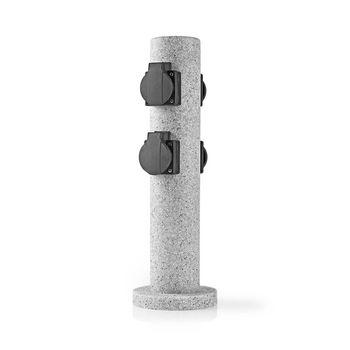 Stekkerdoos | 4x Stopcontact | Grijs | 4x Schuko