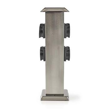 Stekkerdoos   4x Stopcontact   Aluminium   4x Schuko
