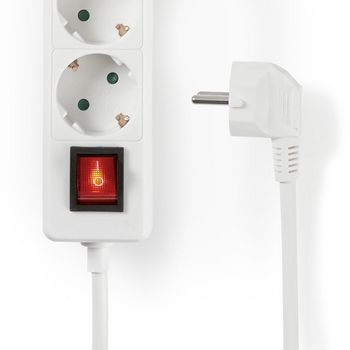 Extension socket | Protective Contact with On/Off Switch | 3-Way | 1.5 m | White