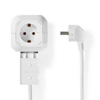 Power Strip Cube   4-Way Schuko   2x USB   1.5 m 3x 1.5 mm²   White