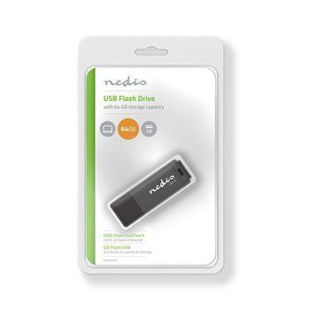 Unidad Flash USB 3.0   64 GB   Lectura a 80 Mbps/escritura a 10 Mbps   Negro