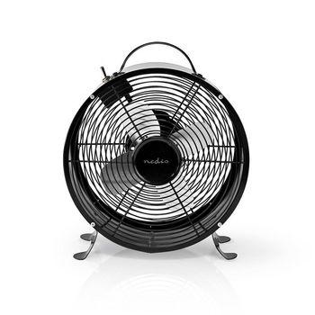 Retro Stolní Ventilátor | Průměr 25 cm | 2 Rychlosti | Černý