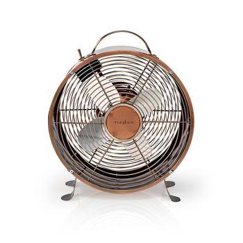 Ventilateur de Bureau Rétro | Diamètre 25 cm | 2 Vitesses | Cuivre