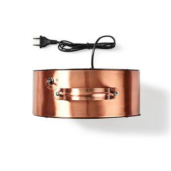 Retro Bureauventilator | Diameter 25 cm | 2 Snelheden| Koper