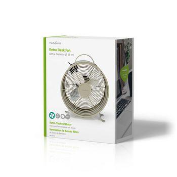Retro Bordvifte | 25 cm i Diameter | To Hastigheter | Grå