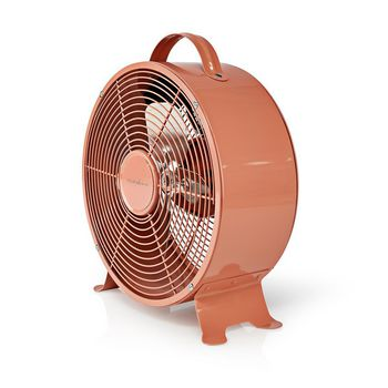 Retro Desk Fan | Diameter 25 cm | 2-Speed | Vintage Pink