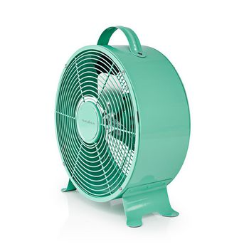 Retro Desk Fan | Diameter 25 cm | 2-Speed | Turquoise
