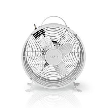 Ventilateur de Bureau Rétro | Diamètre 25 cm | 2 vitesses | Blanc