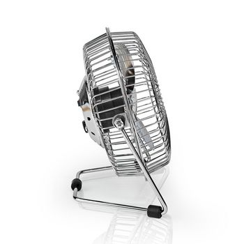 Metal Mini Fan | 15 cm Diameter | USB Powered | Chrome