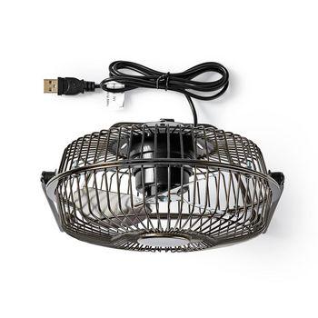 Metal Mini Fan | 15 cm Diameter | USB Powered | Gun Metal