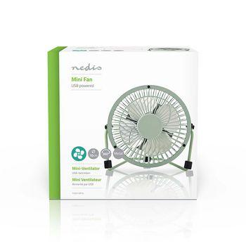 Metal Mini Fan | 10 cm Diameter | USB powered | Green