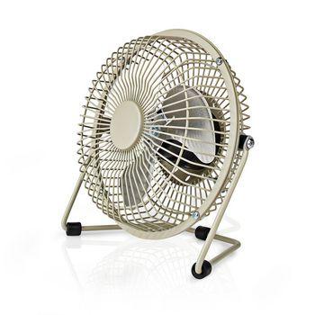 Metal Mini Fan | 15 cm Diameter | USB Powered | Grey