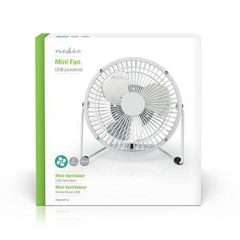 Metal Mini Fan | 15 cm Diameter | USB Powered | White