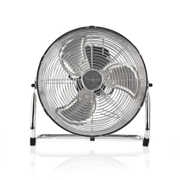 Floor Fan | 30 cm Diameter | 3-Speed | Chrome