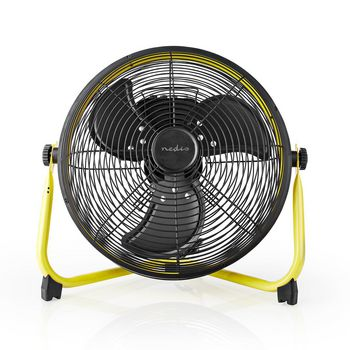 Floor Fan Industrial Design | Diameter 30 cm | 3-Speed | Yellow / Black