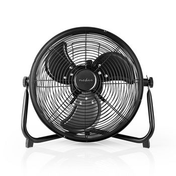 Ventilatore da Pavimento Ricaricabile | Diametro 30 cm | Fino a 10 Ore | Uscita USB | Nero