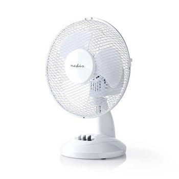 Table Fan | 23 cm Diameter | 3-Speeds | Oscillation Function | White