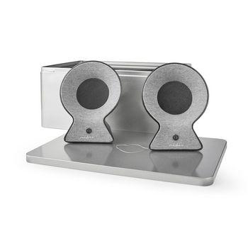 Fabric Bluetooth® Speaker   2x 15 W   Up to 4 Hours Playtime   True Wireless Stereo (TWS)   Grey / Black