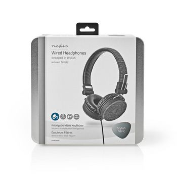 Fabric Wired Headphones | On-Ear | 1.2 m Audio Cable | Anthracite / Black