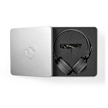 Cuffie Bluetooth® in Tessuto | Sovrauricolari | 18 Ore di Riproduzione | Antracite/Nero