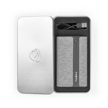 Fabric Powerbank | 10,000 mAh | 2x USB-A 2 A (max) | Grey