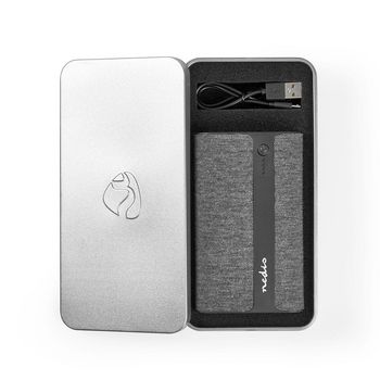 Power Bank in Tessuto | 15.000 mAh | 2 USB-A da 2 A (Max) | Nero