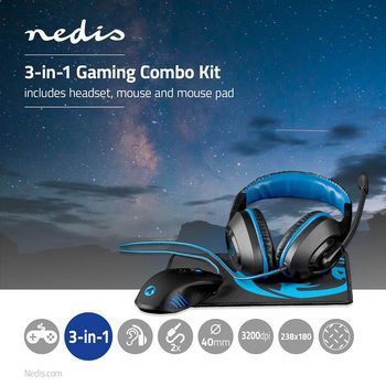 Gaming Combo Kit | 3-in-1 | Headset, Mouse and Mouse Pad