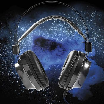 Gamingheadset | Over-ear | Kraftfeedback | LED-lampa | 3.5 mm och USB-kontakter