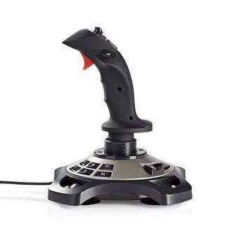 Speljoystick | Kraftvibration | USB-driven | Fungerar med USB-enheter