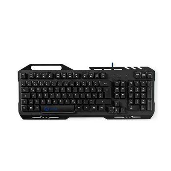 Gaming Keyboard | RGB Illumination | USB 2.0 | German Layout | Metal Design