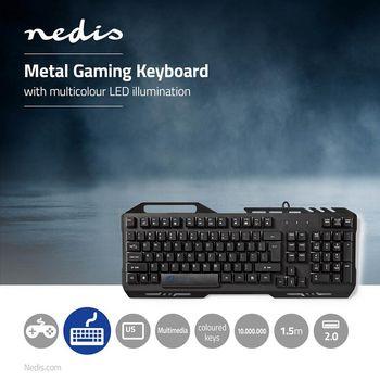 Gaming Keyboard | RGB Illumination | USB 2.0 | US International | Metal Design