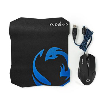 Gaming Mouse & Mouse Pad Set | Wired Mouse | 1600 DPI | 6 buttons