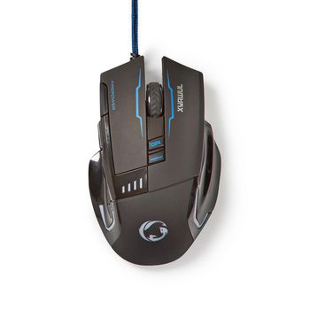 Gaming Mouse | Wired | Illuminated | 4000 DPI | 8 buttons