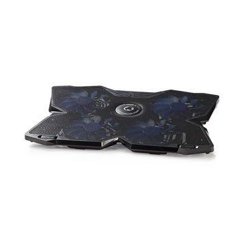 "Gaming Notebook Cooler | 4 USB powered Fans | 15-19"" | USB Pass Through Hub"