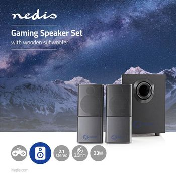 Gaming Speakers | 2.1 | USB powered | 3.5mm jack | 33 W