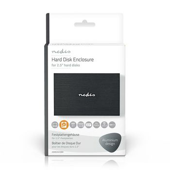 "Hard Disk Enclosure | 2.5"" | USB 3.1 | 6 Gbps | Aluminium | Black"