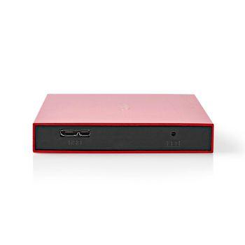 "Hard Disk Enclosure | 2.5"" | USB 3.1 | 6 Gbps | Aluminium | Red"