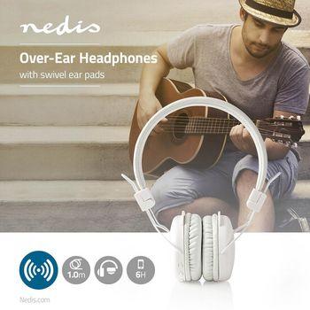 Casque sans Fil | Bluetooth® | Enveloppant | Pliable | Microphone Intégré | Blanc