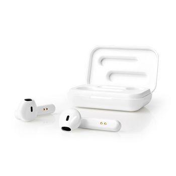 Écouteurs Bluetooth® Sans Fil | 3 Heures d'Autonomie | Commande Vocale et Tactile | Étui de Chargement | Blancs