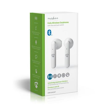 Volledig Draadloze Bluetooth®-Oordopjes | 3 uur Afspeeltijd | Spraakbediening | Charging Case | Wit