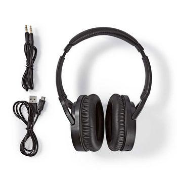 Trådlösa hörlurar | Bluetooth® | Over-ear | Aktiv brusreducering (ANC) | Svart