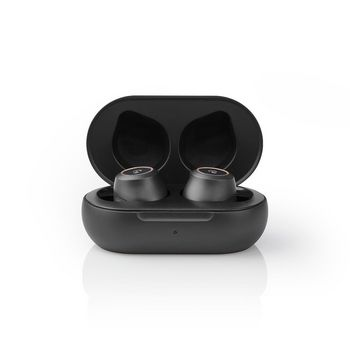 Fully Wireless Bluetooth® Earphones | 3 Hours Playtime | Ear Wings | Voice Control | Touch Control | Charging Case | Black