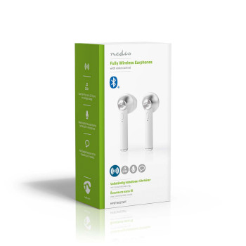Teljesen Vezeték Nélküli Bluetooth® Fülhallgató | 3 Órányi Lejátszási Idő | Hangvezérlés | Töltőtok | Fehér