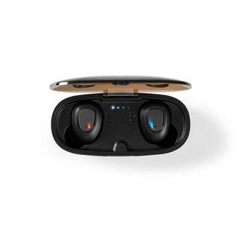 Helt trådlösa Bluetooth®-hörlurar | 5 timmars speltid | Röststyrning | Trådlöst laddningsfodral