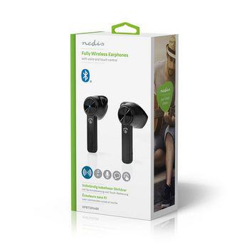 Volledig Draadloze Bluetooth®-oordopjes | 3 uur Afspeeltijd | Spraakbediening | Charging Case | Zwart
