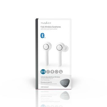 Auricolari Bluetooth® Completamente Wireless | 6 Ore di Riproduzione | Controllo Vocale | Controllo Touch | Custodia di Ricarica | Bianco
