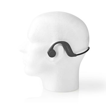 Bone Conduction Headphones | 6.5 hours playtime | Bluetooth Connection | 8 GB Internal Memory | Grey