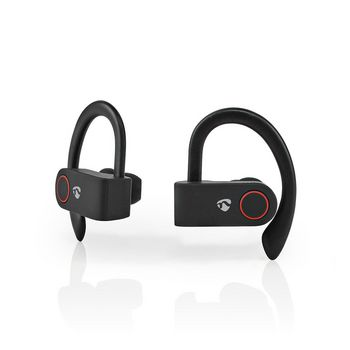 Fully Wireless Bluetooth® Sport Earphones | 8 Hours Playtime | Ear Hooks | Voice Control | Charging Case | Black