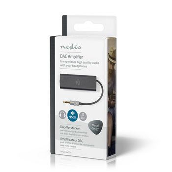 DAC Amplifier | for headphones | SNR 95 dB | HDR 90 dB | Up To 24 Hours Playtime | Metal